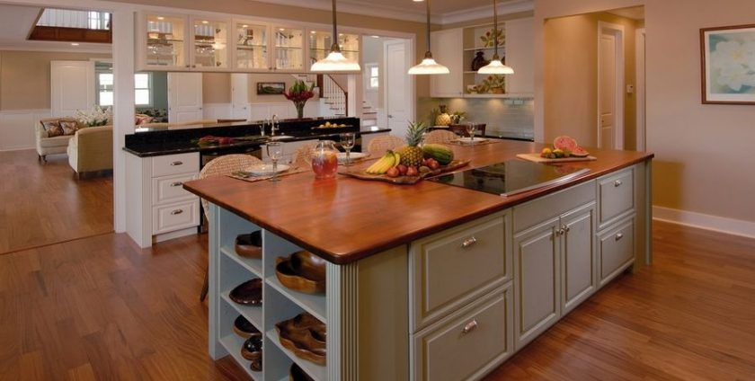 wood countertops kitchen