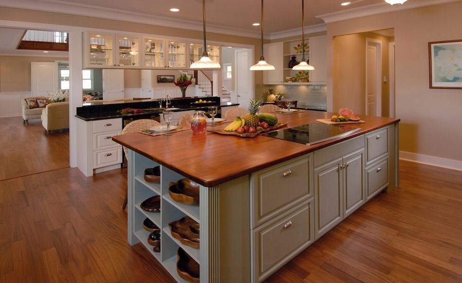 wood countertops kitchen